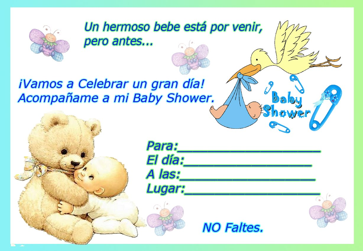frases para invitaciones baby shower de ositos para baby shower