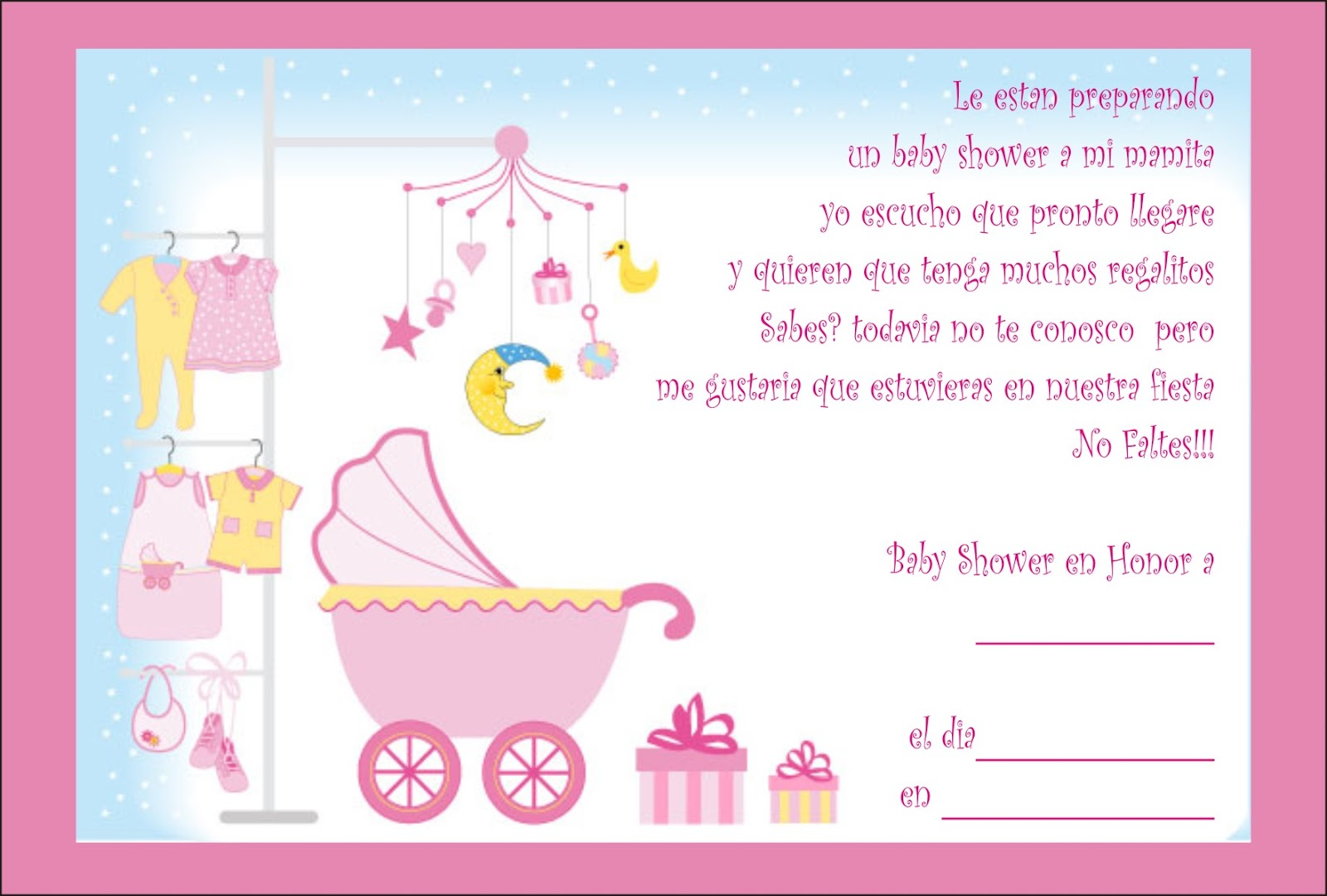 tarjetas de baby shower