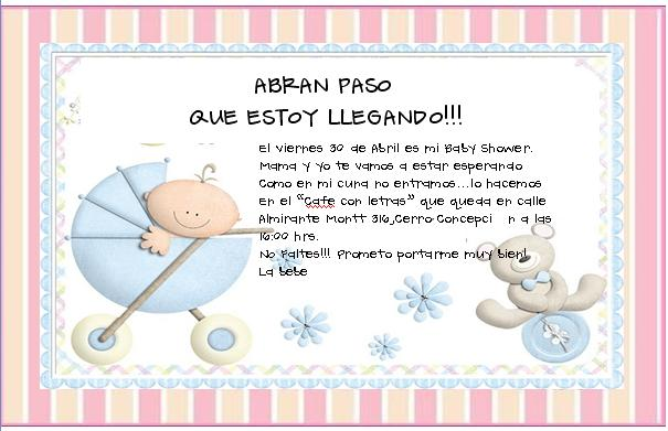 Invitaciones Para Baby Shower De Nino