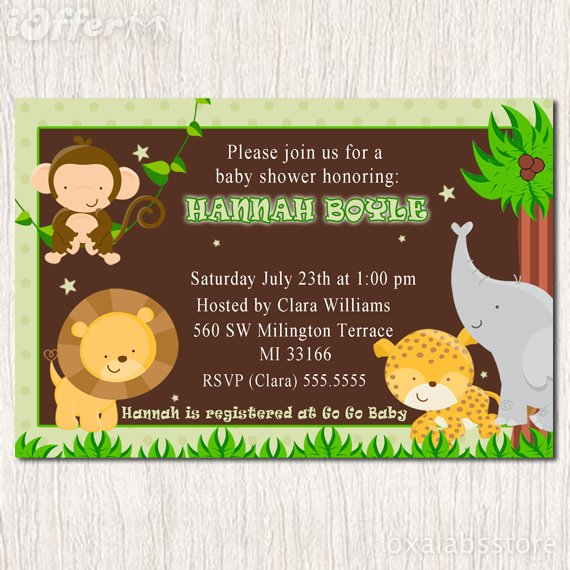 Baby Shower Invites Unisex with beautiful invitations layout